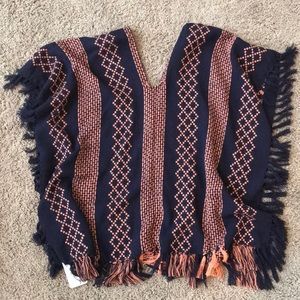 Free People Poncho, One Size, NWT